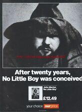 "John Martyn ""No Little Boy"" 1993 Magazine Advert #126"