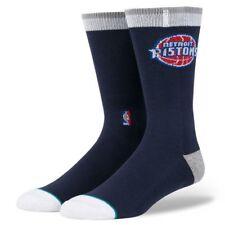 2 Pair for 20.00 Stance New NBA Detroit Pistons Socks Crew Large Size 9-12