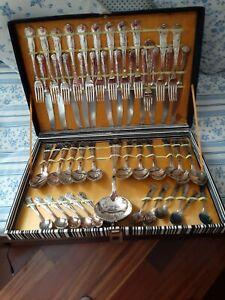 Lotto di 49 Posate in argentone miste