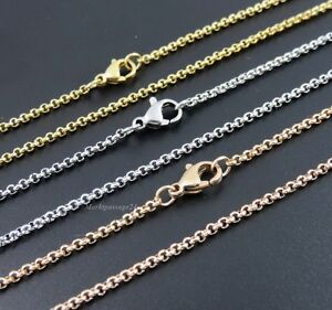 Stainless Steel Pea Chain 2-3 MM Wide 10 -120 CM Necklace Pendant Rolo Unisex