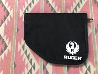 Ruger Genuine Pistol Case Black Padded Zippered Pouch