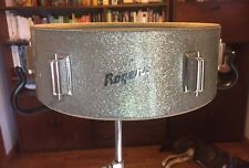 1960's Rogers LUXOR Silver Sparkle SNARE DRUM Shell + Lugs! Very Nice! Cleveland