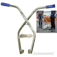 SILVERLINE KERB TONGS TONG KERBING EDGING STONE PAVING SLAB CARRIER LIFTER 700MM