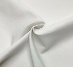 "BALLARD DESIGNS METZ SNOW SUNBRELLA WHITE LINEN LIKE OUTDOOR FABRIC BY YARD 54""W"