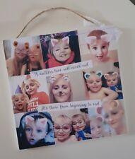 Personalised multi photo collague gift present plaque photo mum mother grandma