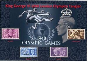 KGVI NICE DISPLAY OF 1948 LONDON OLYMPICS SET TANGIER USED VFU