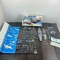 Vintage Heller P-38 Lightning 1/72 Scale Model Kit 80273