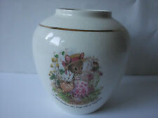 Stafford PORCELAIN Ceramic VASE Crown Devon Beatrix Potter Mouse - S Fielding