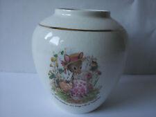 Stafford PORCELAIN Ceramic VASE Crown Devon Beatrix Potter like Mouse S Fielding