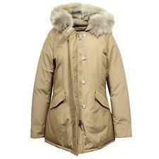 F9148 parka donna WOOLRICH ARTIC PARKA DARK BEIGE real fur jacket woman