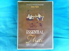 """BOOK """"ESSENTIAL THAI"""" BY JAMES HIGBIE PLUS AUDIO CASSETTE (UPC 9789742020354)"""