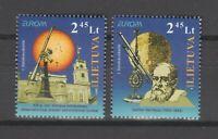 S38050 Lietuva Lithuania Europa Cept MNH 2009 2v Space Astronomy