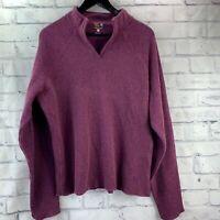Mountain Hard Wear Women's Maroon Wool Blend Sweater Size XL V Neck Dark Red