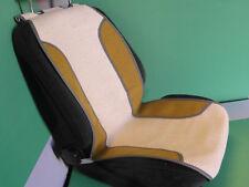Schienale estivo universale in fibra naturale e inserti cotone ocra M. in Italy