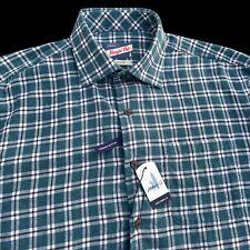 Johnnie-O Pawley Flannel Hangin Out Lightweight Cotton Shirt Medium $128