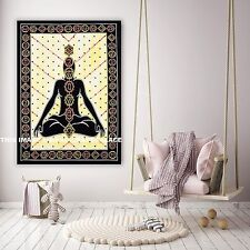 7 Chakra Buddha Wall Hanging Tapestry Indian Wall Decor Poster Ethnic Tapestries