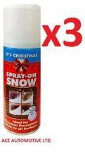 3 X NATALE NEVE spray artificiale finta Flake Craft pittura Stencil Decorazione Festive