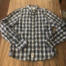 Abercrombie & Fitch Men's Plaid Muscle Button Up Casual LS Shirt Size L #11987