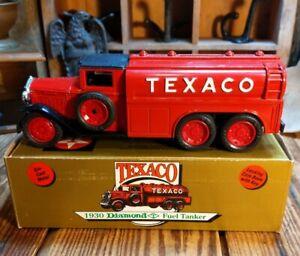 TEXACO 1930 DIAMOND FUEL TANKER 1990 ERTL TRUCK BANK Limited Edition NIB