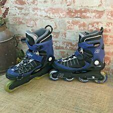 K2 Velocity-W Exotech Black Blue Rollerblades Inline Skates Mens Size 9