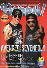 Burrn! Heavy Metal Magazine October 2010 Japan Avenged Sevenfold Slash Angra
