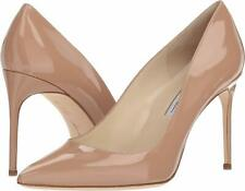 Brian Atwood VALERIE Pump Cappuccino Nude Patent Leather Pointed Pumps