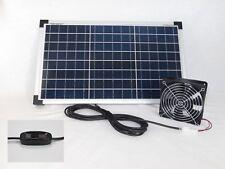 20 W Solarlüfter mit Schalter Solar Axial Lüfter Ventilator Gewächshaus Garage *