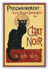 Le Chat Noire Fridge Magnet. Classic French Poster Art