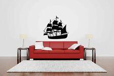 Wall Vinyl Sticker Decal Mural Design Art Pirate Ship See Adventure o002