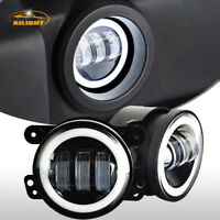 For Jeep Wrangler 2X 4 inch LED Foglight Fog Lamps Offroad DRL Driving Bulbs 60W