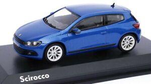VW Scirocco GT III 3 (2.0 TSI) 2009 RISING BLUE 1:43 Norev (VW Dealer Model)