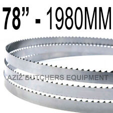 """78"""" x 5/8"""" Butchers Meat Bandsaw Blades (5 Pack)."""