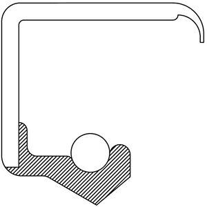 Manual Trans Drive Shaft Seal-Oil Seal National 2503N