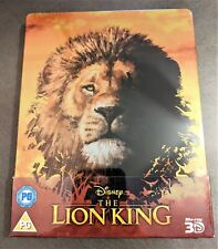 LION KING (Live Action, 2019) 3D + Blu-ray U.K. Exclusive Limited Ed. STEELBOOK