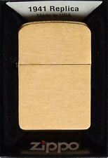 Zippo Feuerzeug Replica 1941 Brass Brushed Nr. 60001170, Messing gebürstet