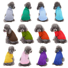 New Dog Clothes Pet Winter Sweater Knitwear Puppy Clothing Warm Apparel Coat Us