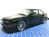 1/18 -  1990 BMW M 3 E 30 BLACK - MODIFIED - SOLIDO