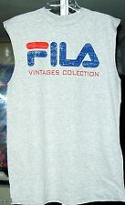 FILA ORIGINAL VINTAGES COLLECTION MENS SLEEVELESS T-SHIRTS  GRAY COLOR NEW  2XL