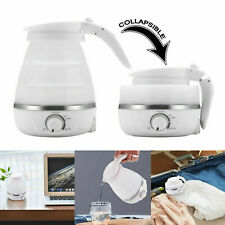 Electric Kettle Silicone Foldable Portable Travel Camping Water Boiler Adjusting