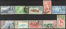 1950 Barbados Sg 271/81 Definitive Short Set Good Used
