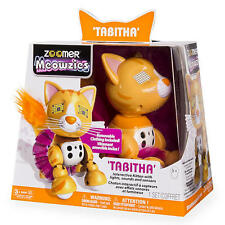 Meowzies Tabitha Orange Tabby Cat Kitty Zoomer Interactive Pet Toy