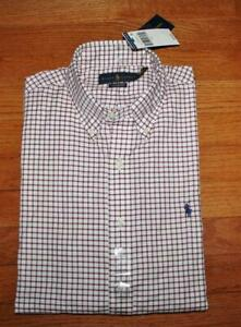 NEW NWT Polo Ralph Lauren Mens Classic Fit Buttondown Dress Shirt Pony Logo *7S