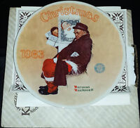 "NORMAN ROCKWELL ""ROCKWELL CLASSIC"" CHRISTMAS  PLATE 1983 ""Santa in the Subway"""