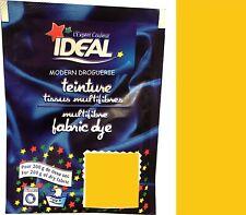 TEINTURE IDEAL TEXTILE TISSU VETEMENT JAUNE coton lin laine polyamide