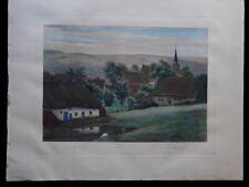 Lithographie coin de village Fr DEHASPE 1909 Dietrich & Cies Editeurs Bruxelles
