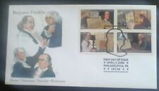 First day of issue, 2006 Honoring Benjamin Franklin, Se-tenant, Scott # 4021-24
