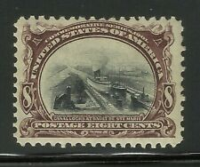More details for usa series 1901 8c stamp old us mvlh mint ex-old time american collection