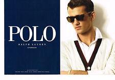 PUBLICITE ADVERTISING 025  2008  RALPH LAUREN POLO  collection lunettes( 2p)