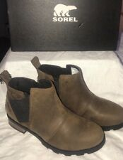NEW WITH BOX Women's Size 6.5 SOREL Emelie Chelsea Ankle Boots Major Waterproof