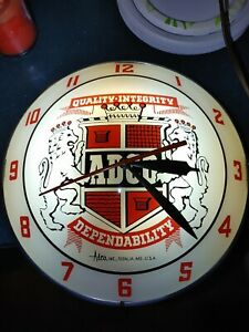 1950s Quality - Integrity and Dependability ADCO Double Bubble Clock